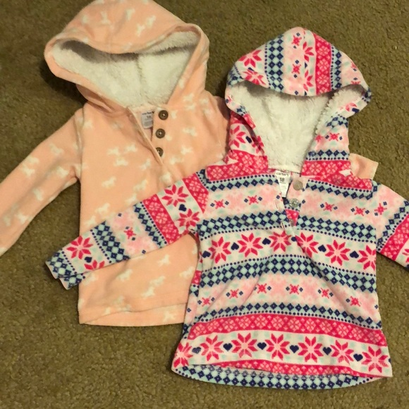Carter's Other - ❗️BOGO 1/2 off ❗️two 18 mo fleece pullover hoodies